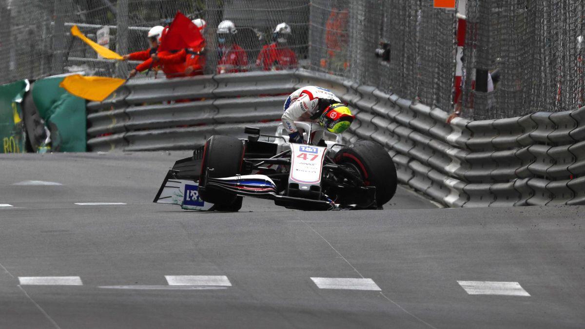 Mick Schumacher (Haas) crashte in Monte Carlo