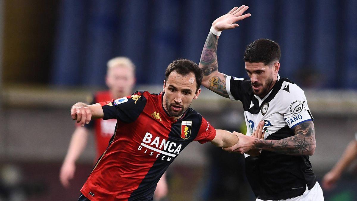 De Paul in Genoa-Udinese