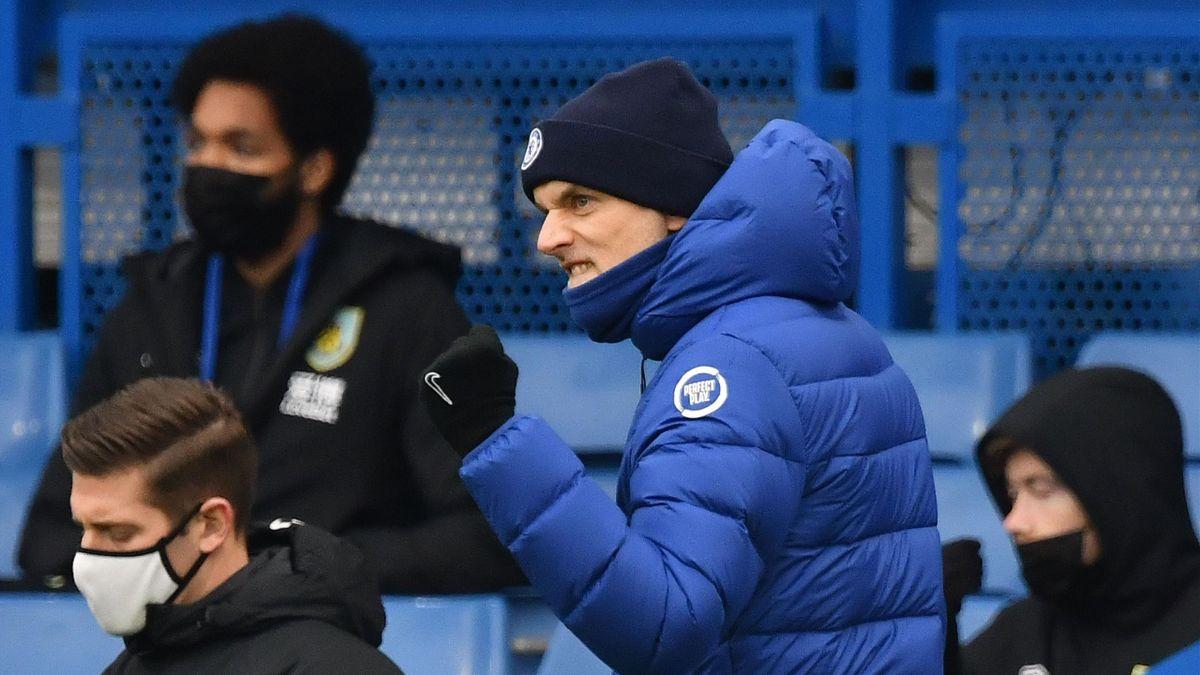 Thomas Tuchel ballt die Faust: Gegen den FC Burnley feiert er den ersten Sieg mit dem FC Chelsea