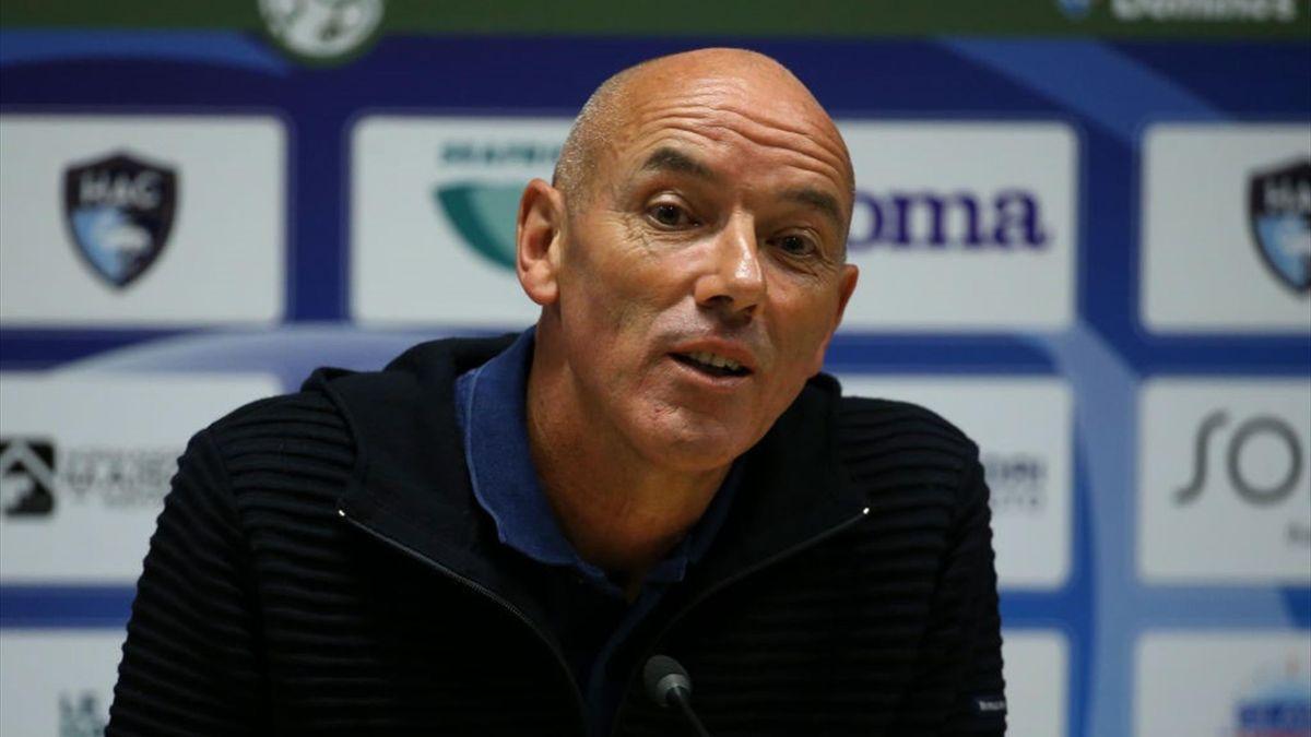 Paul Le Guen (Le Havre) le 12 juillet 2020 au stade Océane