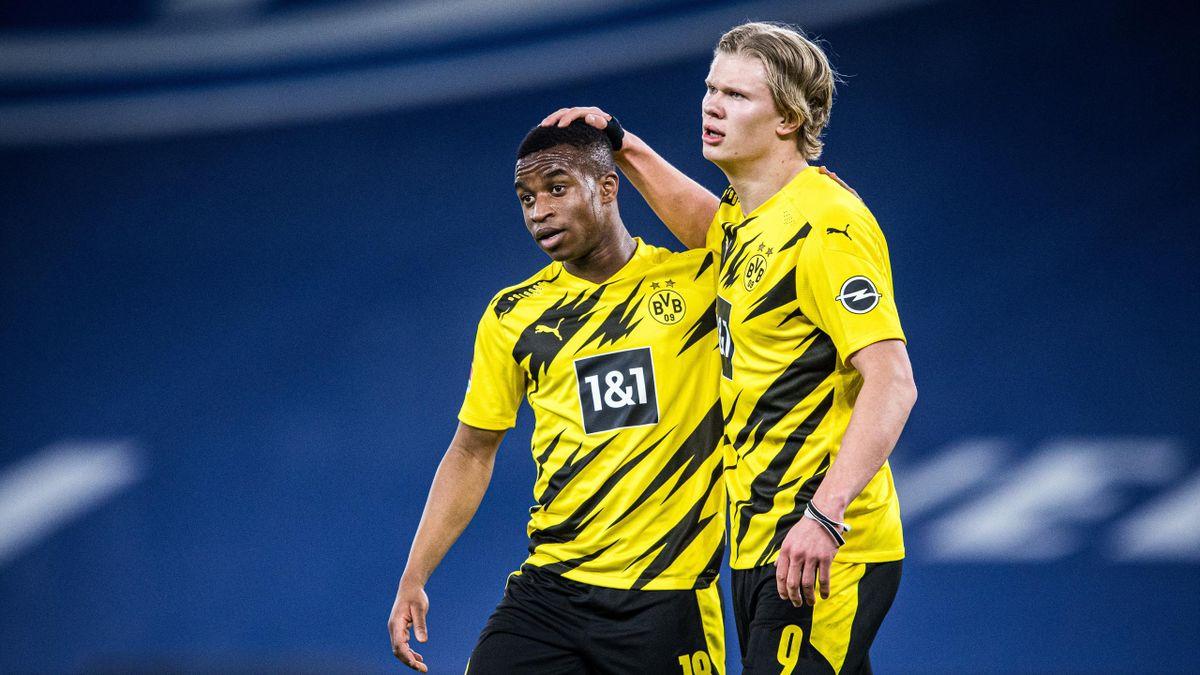 Youssoufa Moukoko (links) und Erling Haaland - Borussia Dortmund