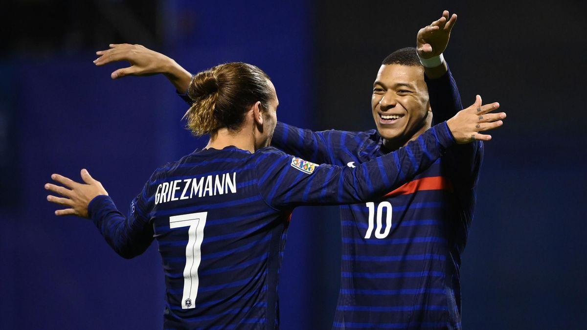 Griezmann (l) and Mbappé (r)