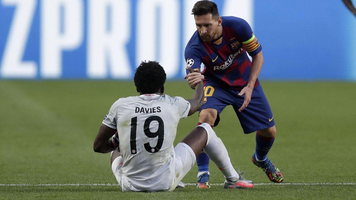 Alphonso Davies und Lionel Messi