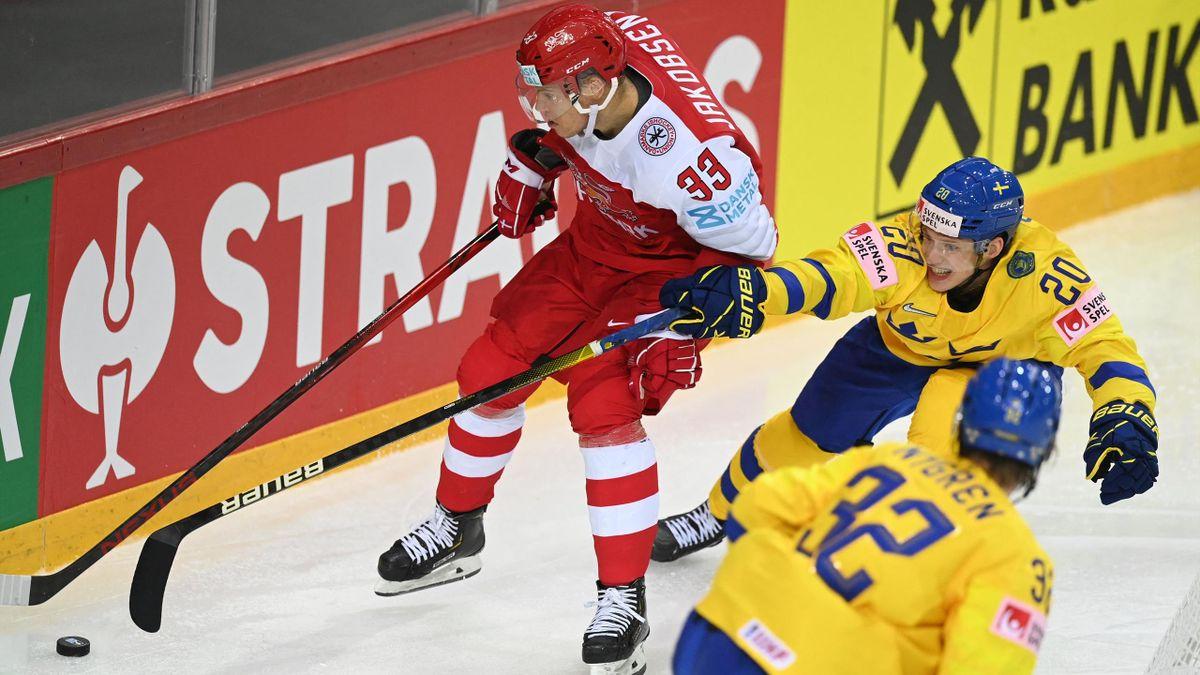 Dänemark gegen Schweden bei der Eishockey-WM 2021