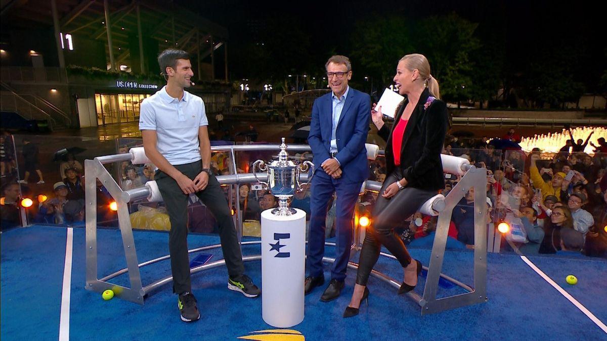 US Open : Djokovic's studio interview