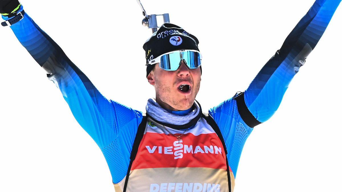 Emilien Jacquelin sacré champion du monde de la poursuite pour la 2e fois consécutive.