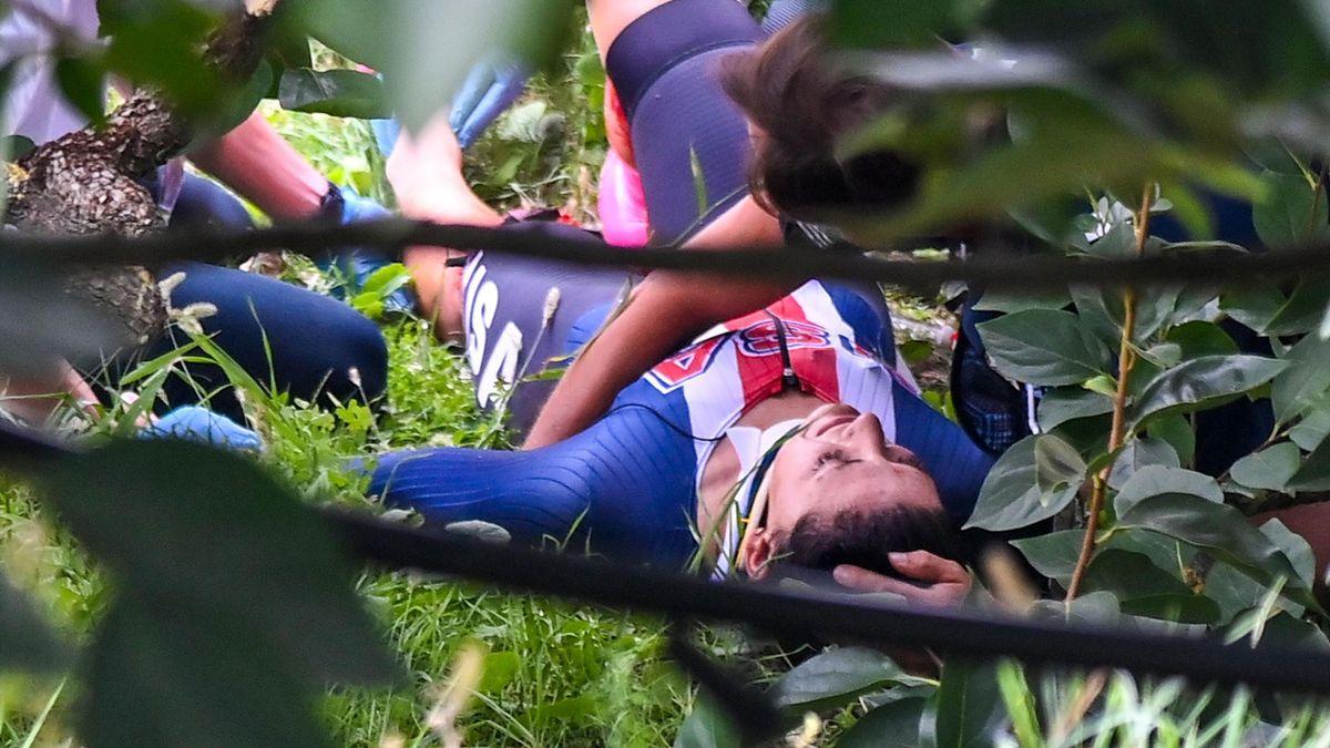 Chloé Dygert stürzte bei der WM in Imola schwer