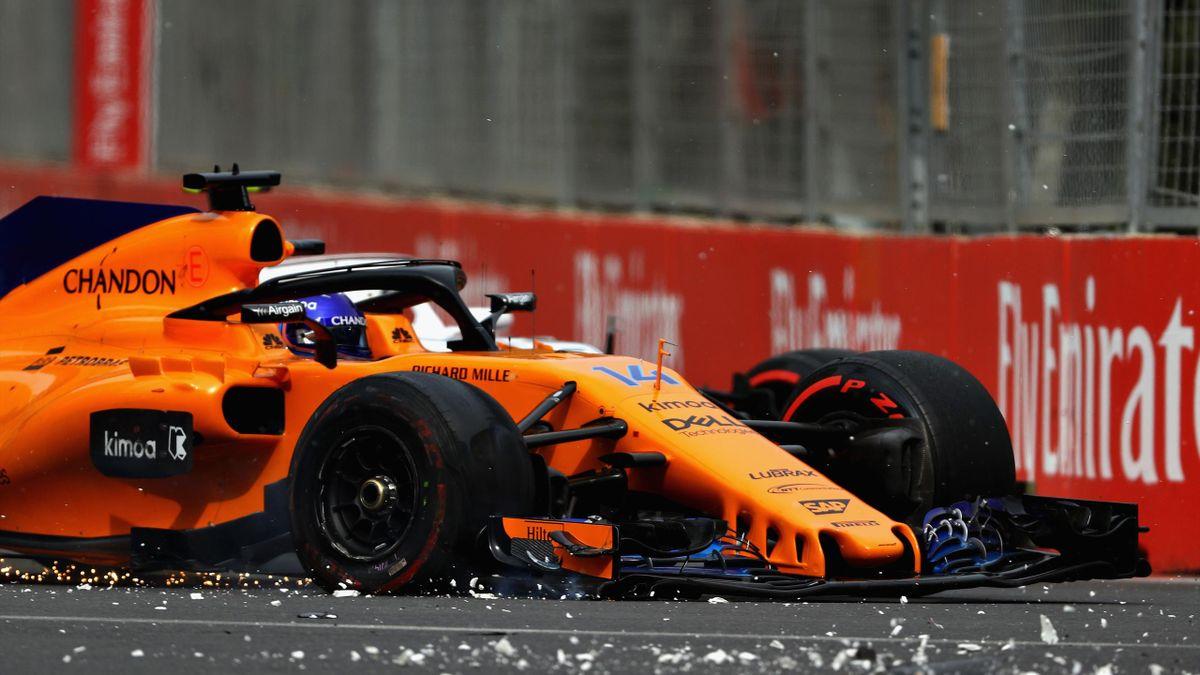 Fernando Alonso durante el GP de Azerbaiyán