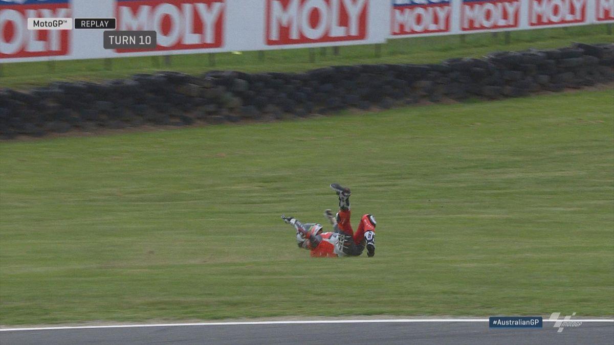 Australian Grand Prix: Moto GP Q2 - Crash Bautista