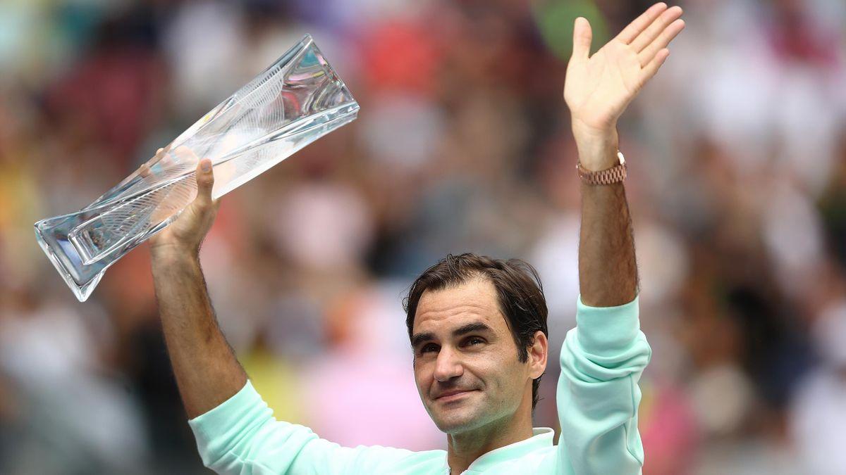 Roger Federer, vainqueur de son 28e Masters 1000, à Miami.