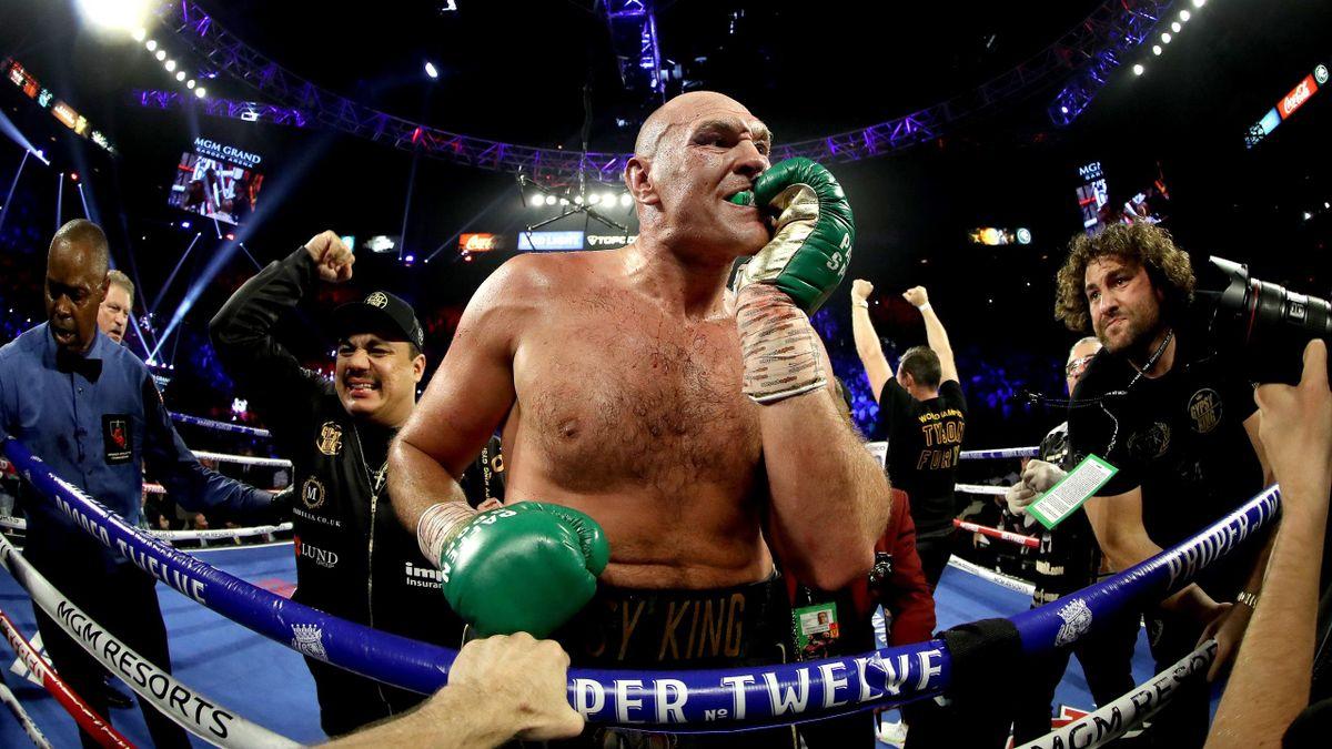 Tyson Fury après sa victoire face à Deontay Wilder, le 22 février 2020
