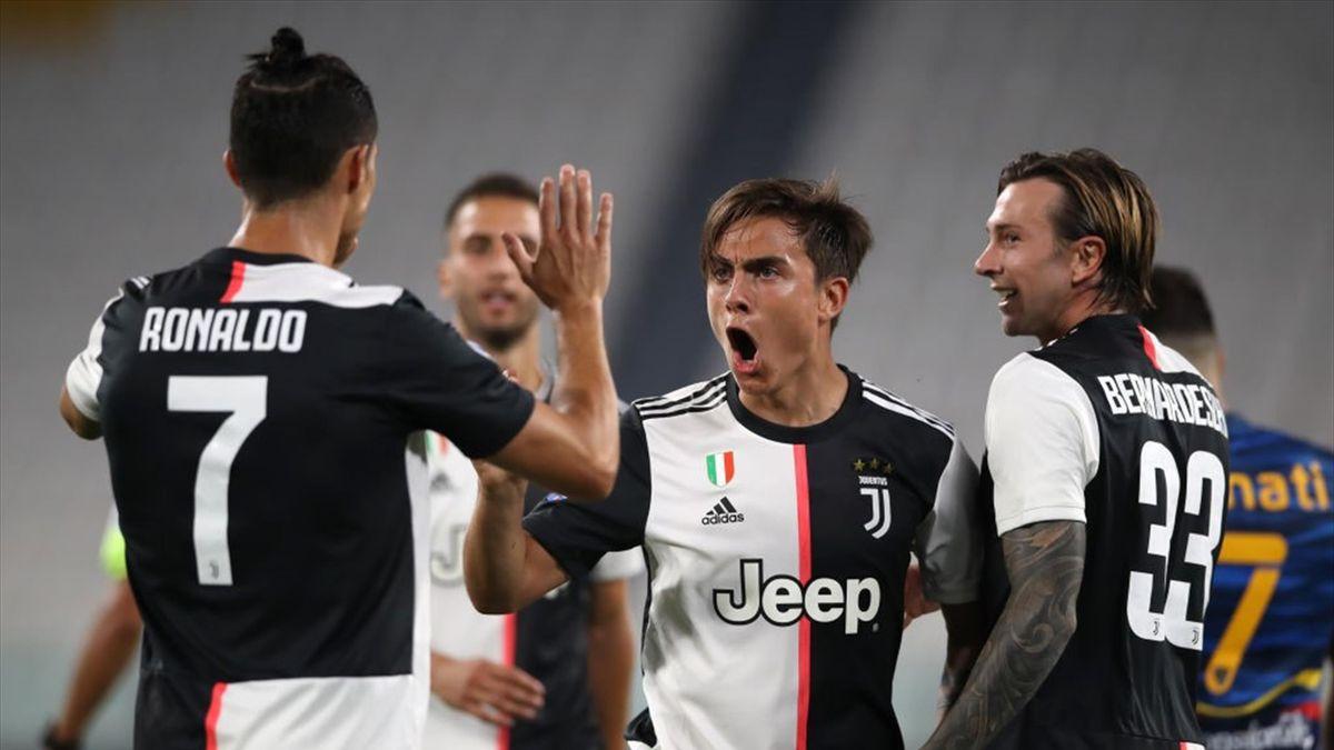 Paulo Dybala buteur pour la Juventus contre Lecce en Serie A le 26 juin 2020