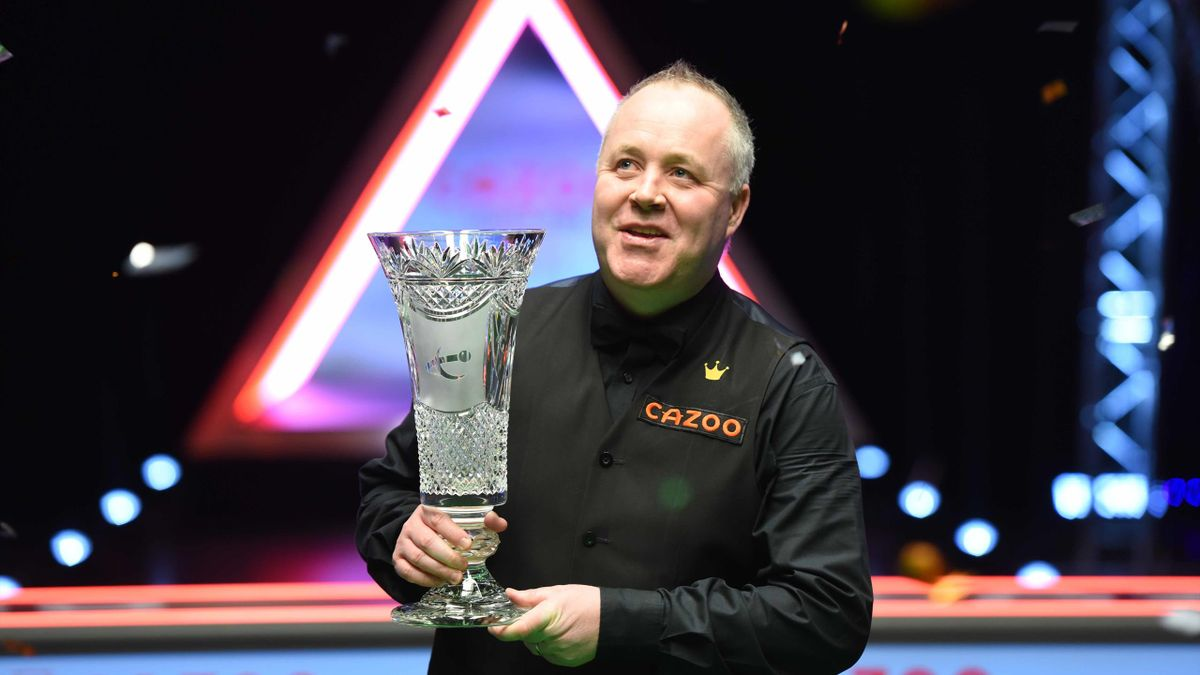 John Higgins with the Players Championship trophy