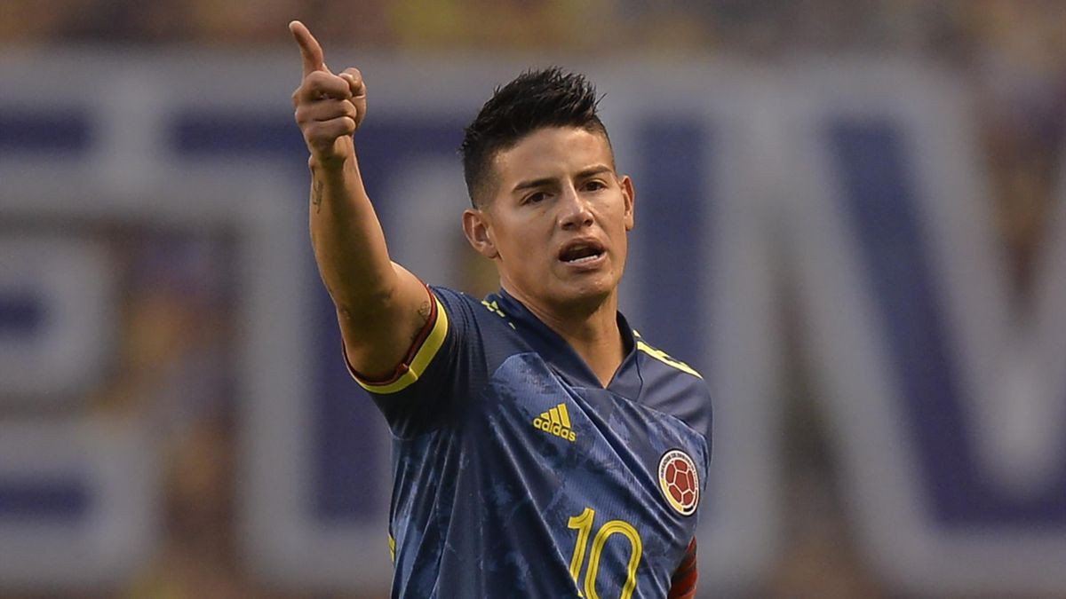 James Rodriguez playing for Colombia