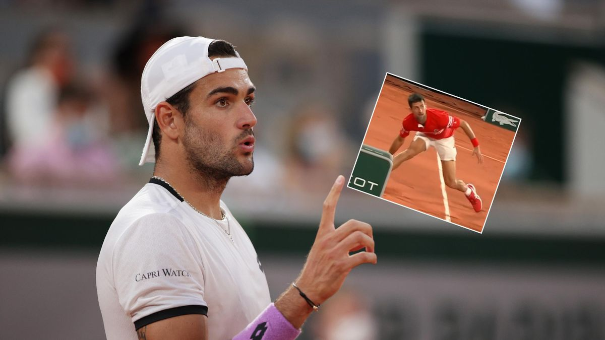 'Oh no!' - Berrettini makes crazy mistake after incredible Djokovic save