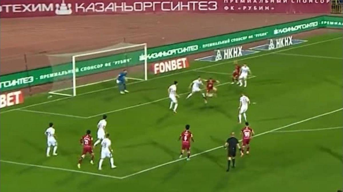 Гол Андерса Дрейера пяткой в матче 7-го тура РПЛ «Рубин» – «Урал»