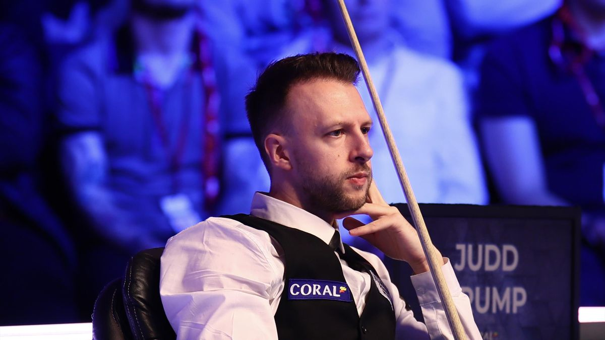 Judd Trump of England watches during the final match against Yan Bingtao of China