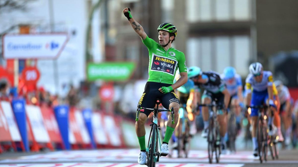 Primoz Roglic, vainqueur de la 10e étape de la Vuelta 2020.