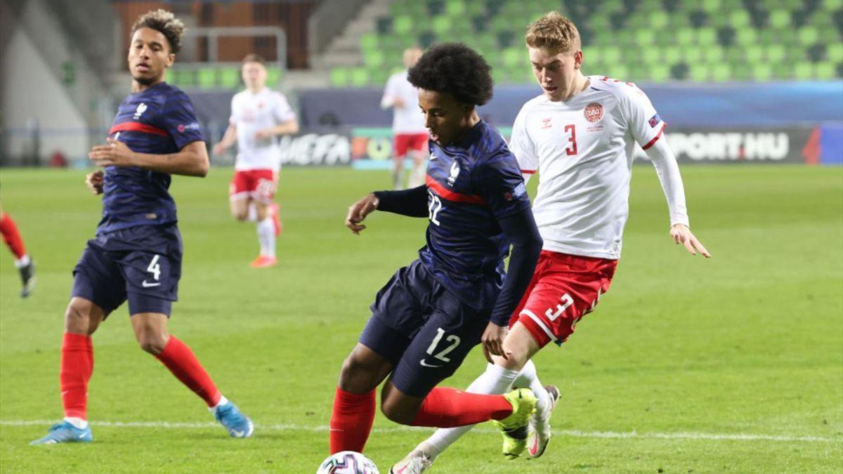 Jules Koundé avec les Bleuets lors de l'Euro Espoirs, face au Danemark