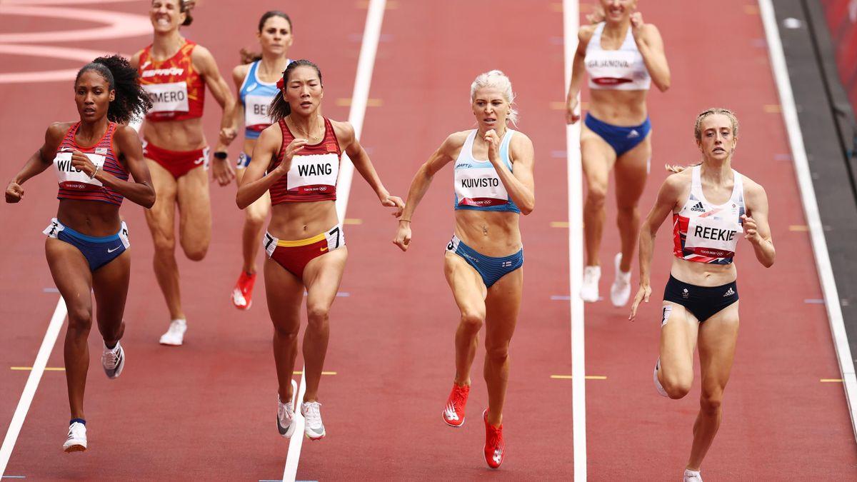 Jemma Reekie wins her 800m heat, Tokyo Olympics, July 30, 2021