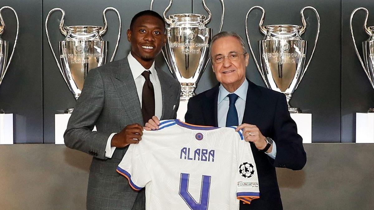 David Alaba con la maglia del Real Madrid (foto credit: @realmadrid)