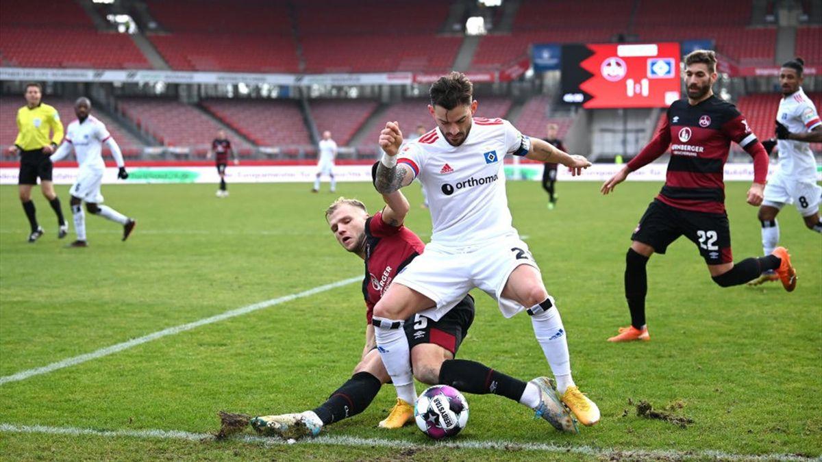 Der Hamburger SV ergatterte ein 1:1-Unentschieden in Nürnberg