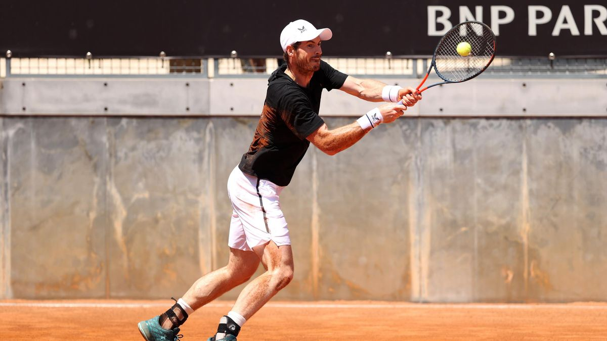 Andy Murray during training in Rome with Novak Djokovic at the weekend