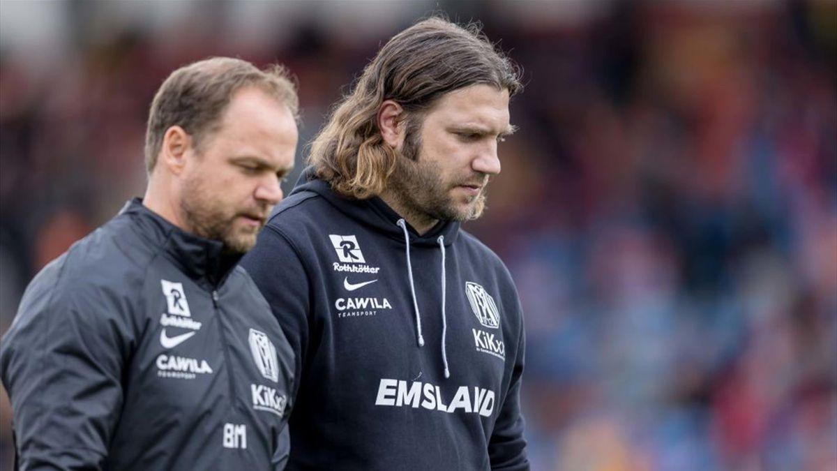 Torsten Frings (r.) darf beim nächsten Spiel seines SV Meppen den Innenraum nicht betreten