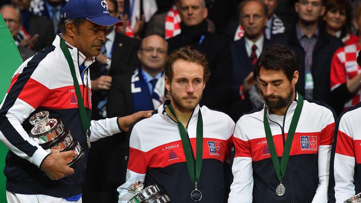 Lucas Pouille en larmes, après sa défaite