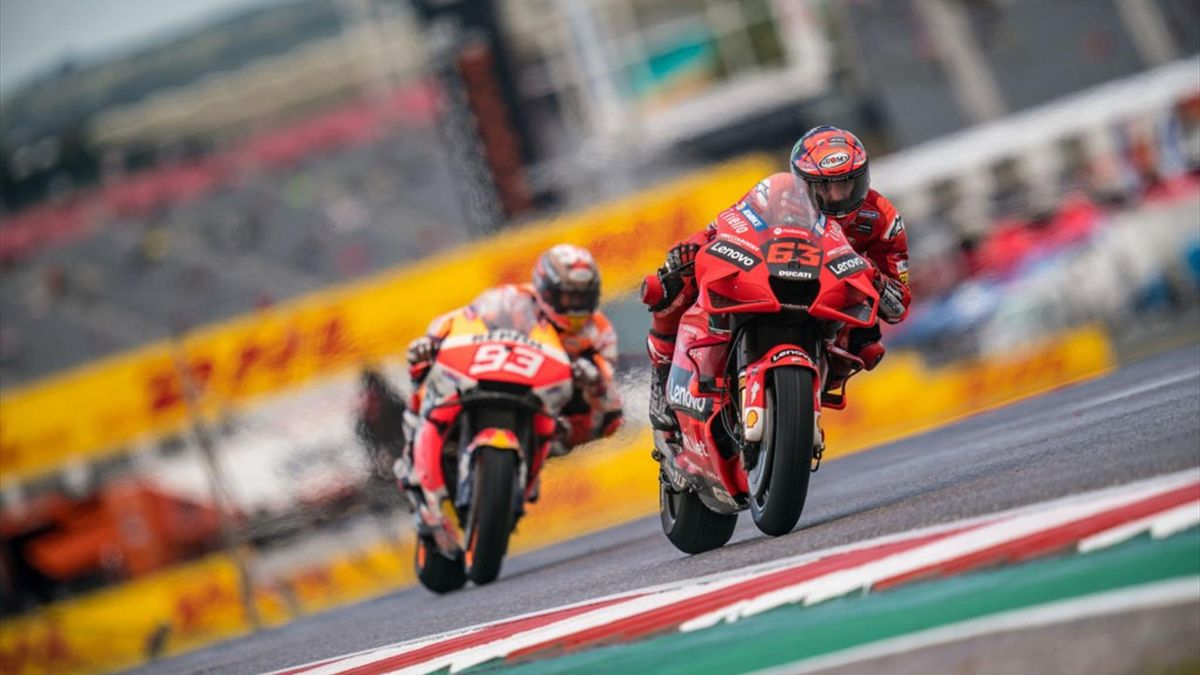 Bagnaia e Marquez nelle prove libere del GP delle Americhe 2021 - MotoGP