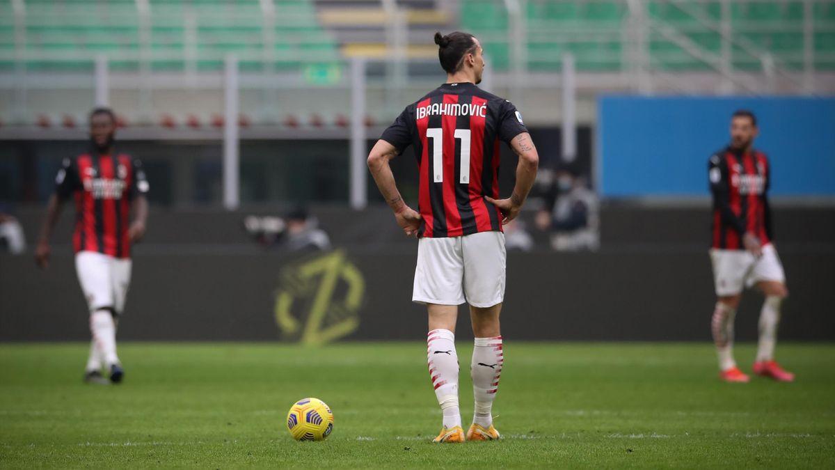 Zlatan Ibrahimovic nel derby