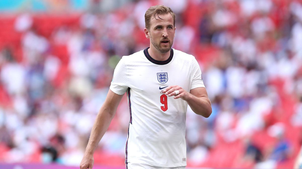 Harry Kane of England celebrate a win after the UEFA Euro 2020 Championship Group D match between England and Croatia on June 13, 2021 in London, United Kingdom