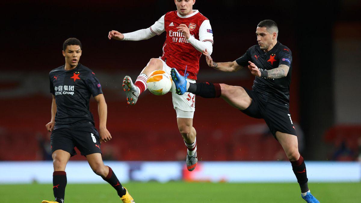 Arsenal - Slavia Praga | Stanciu, în duel cu Emile Smith Rowe