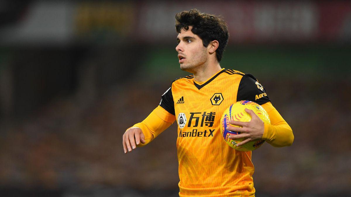 Pedro Neto of Wolverhampton Wanderers celebrates
