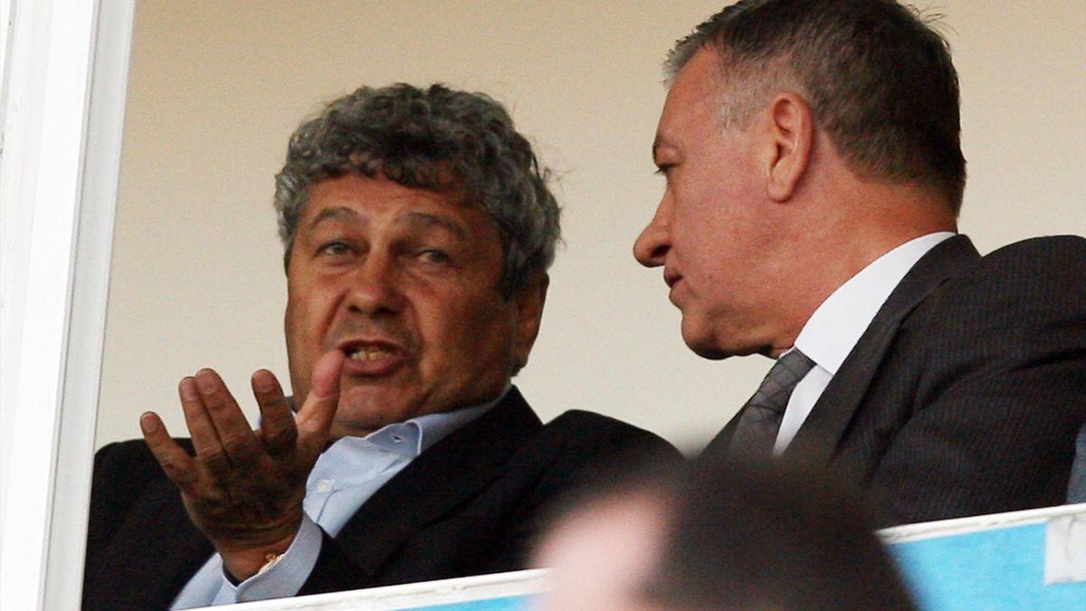 Mircea Lucescu alături de Mircea Sandu