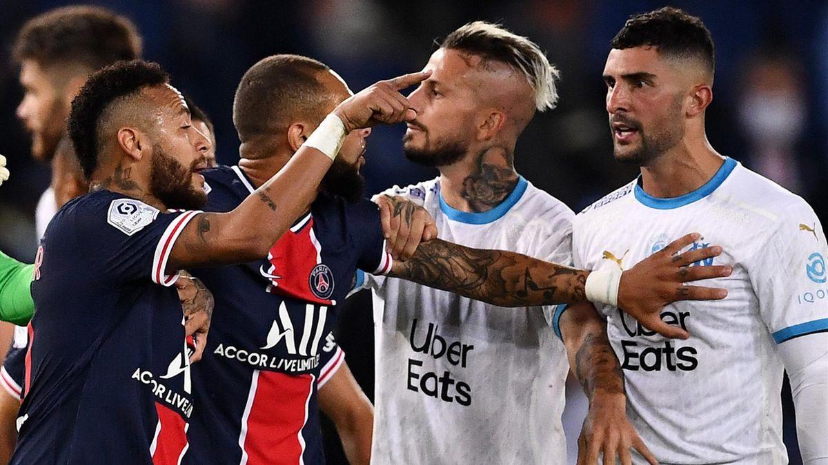 Neymar Jr. an der Rudelbildung bei Paris St.-Germain und Olympique Marseill beteiligt
