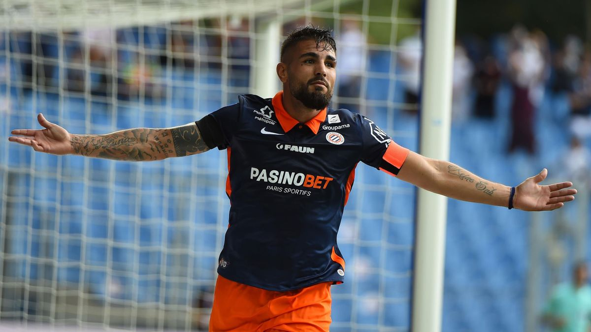 Andy Delort (Montpellier), double buteur face à Angers en Ligue 1 (4-1), le 20 septembre 2020