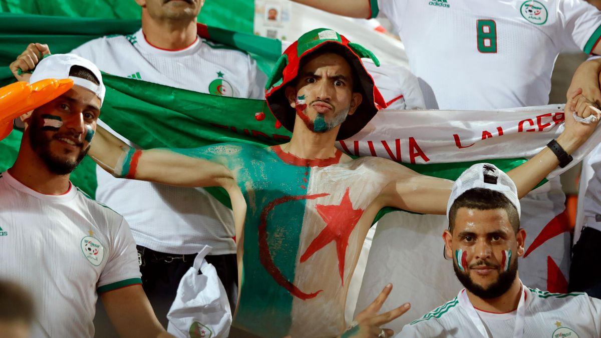 Les supporters algériens lors de la CAN