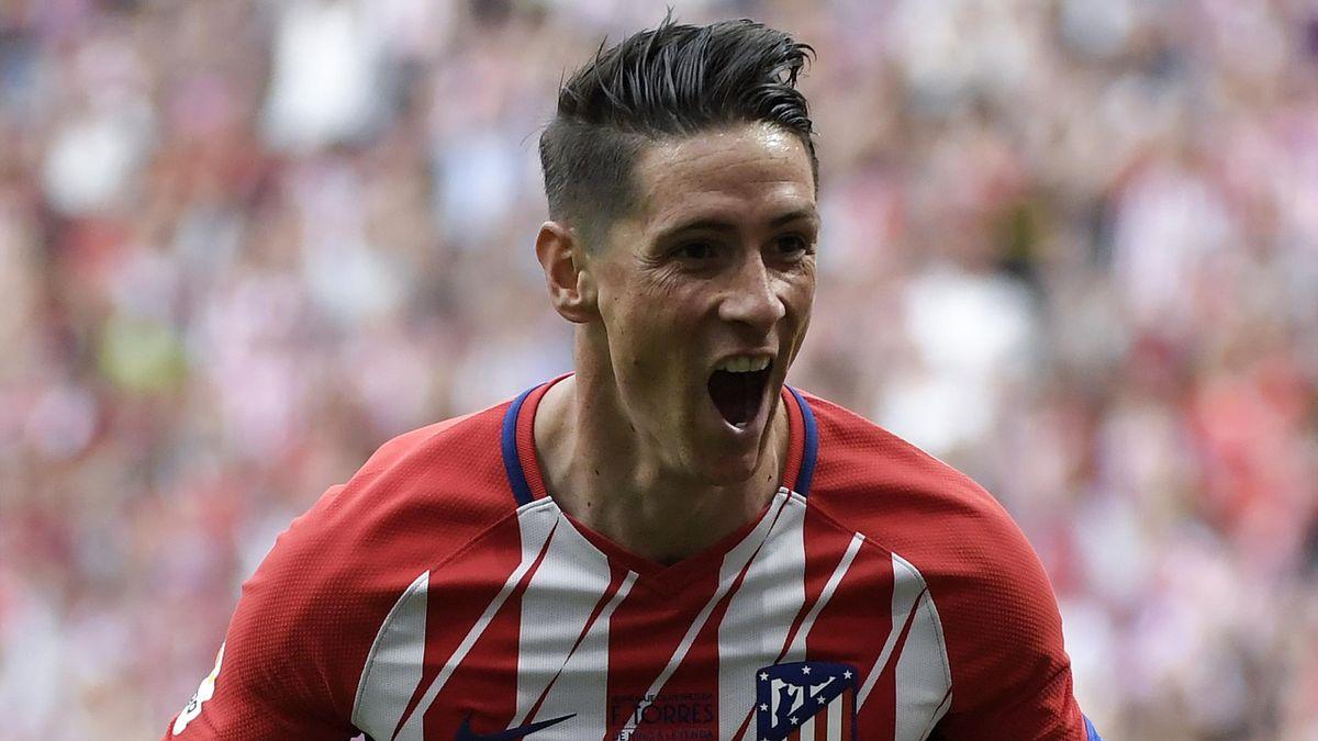 Fernando Torres sous le maillot de l'Atlético de Madrid en mai 2018.