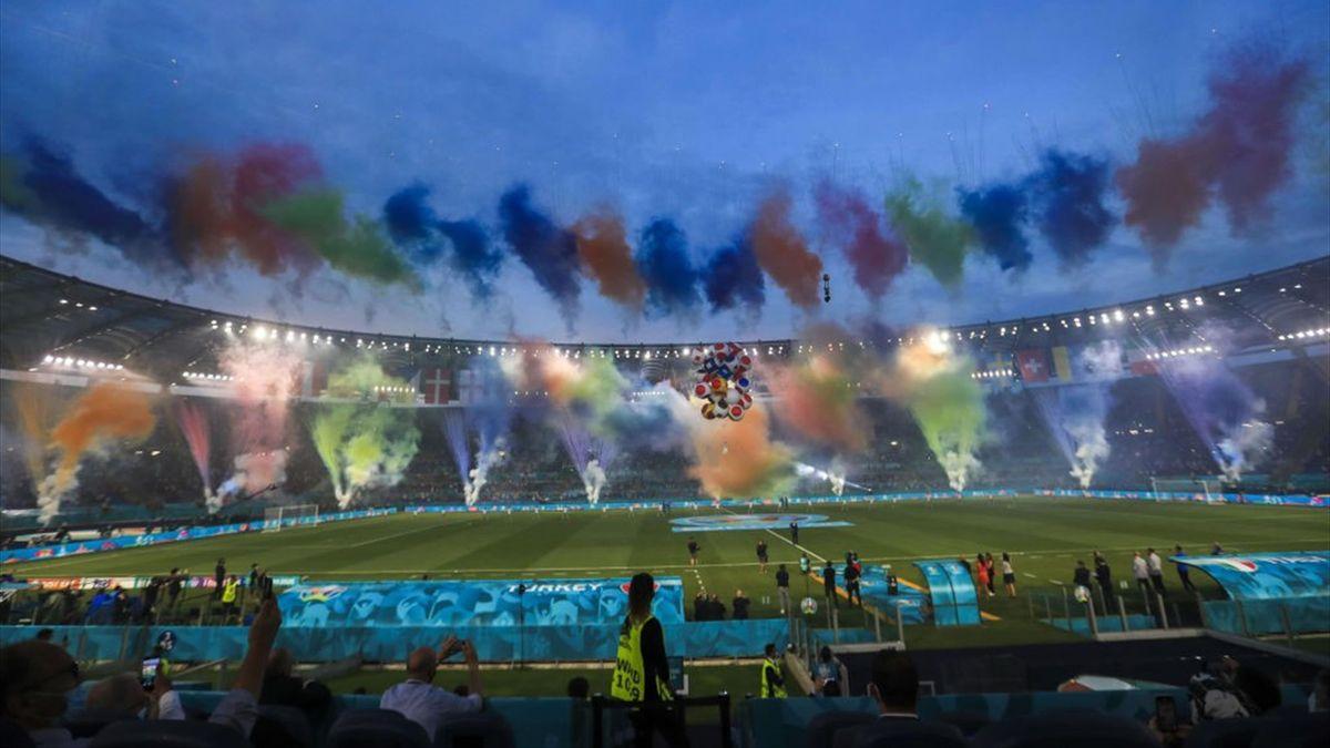 Mit viel Farbe wurde die EURO 2020 in Rom eröffnet