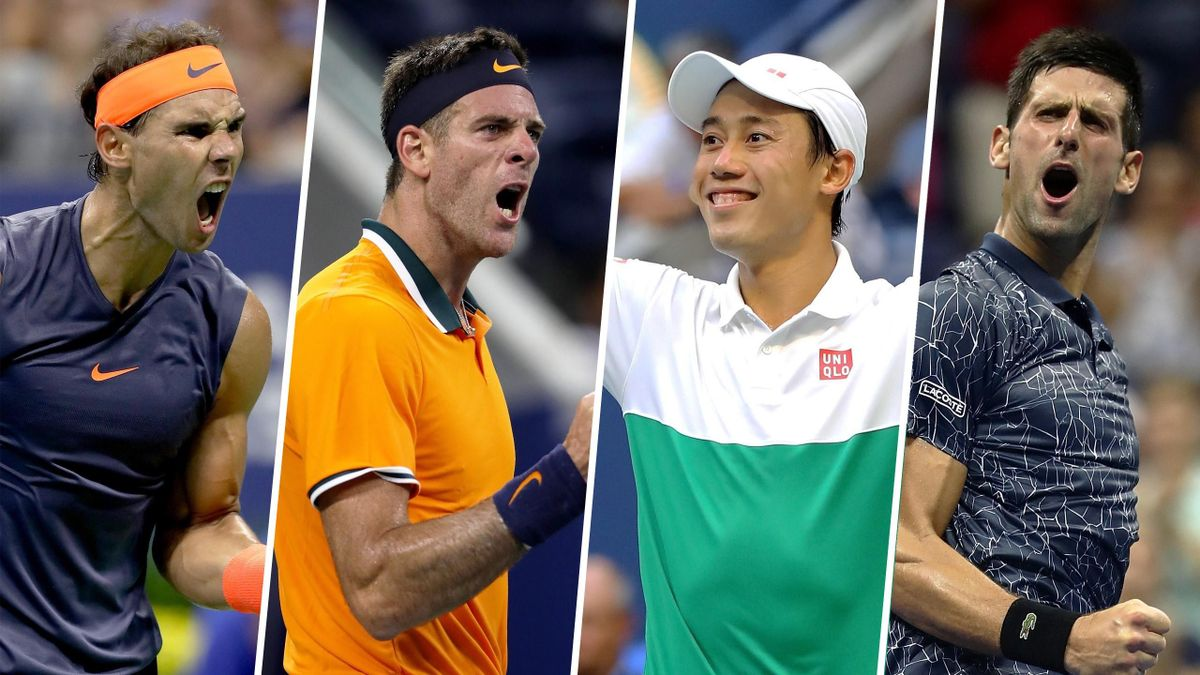 US-Open-Halbfinalisten Nadal, del Potro, Nishikori, Djokovic