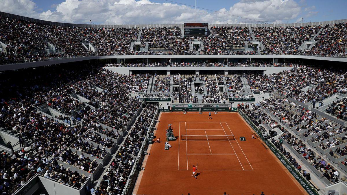 Court central de Roland-Garros en 2019