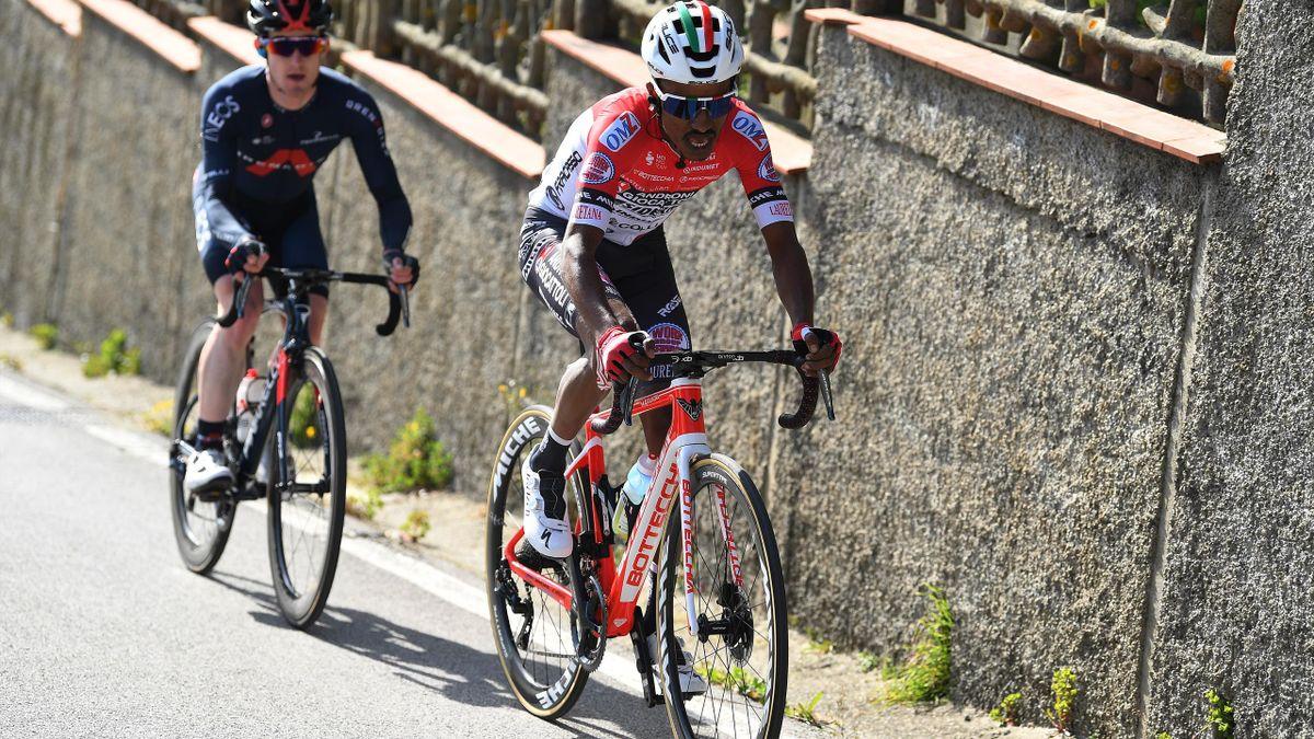 Natnael Tesfatsion in action in Italy for Androni Gioccatoli Sidermec