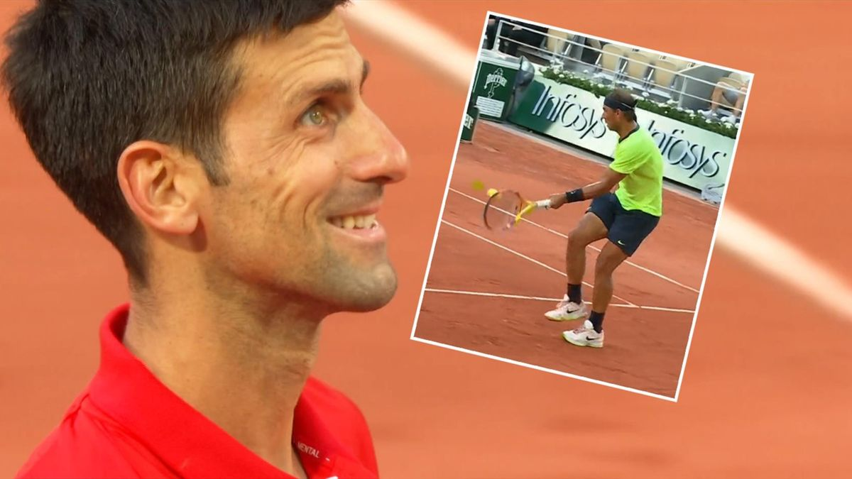 'Where did that come from?' - Djokovic laughs at Nadal brilliance with mad shot