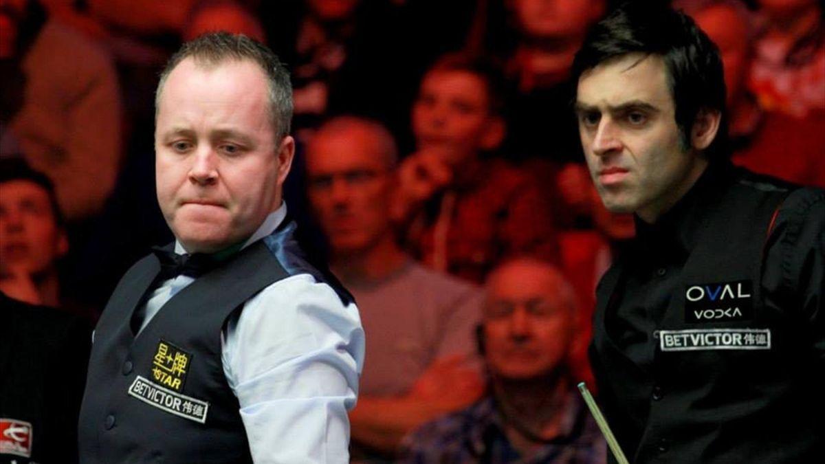 John Higgins and Ronnie O'Sullivan at the Welsh Open (Tai Chengzhe)