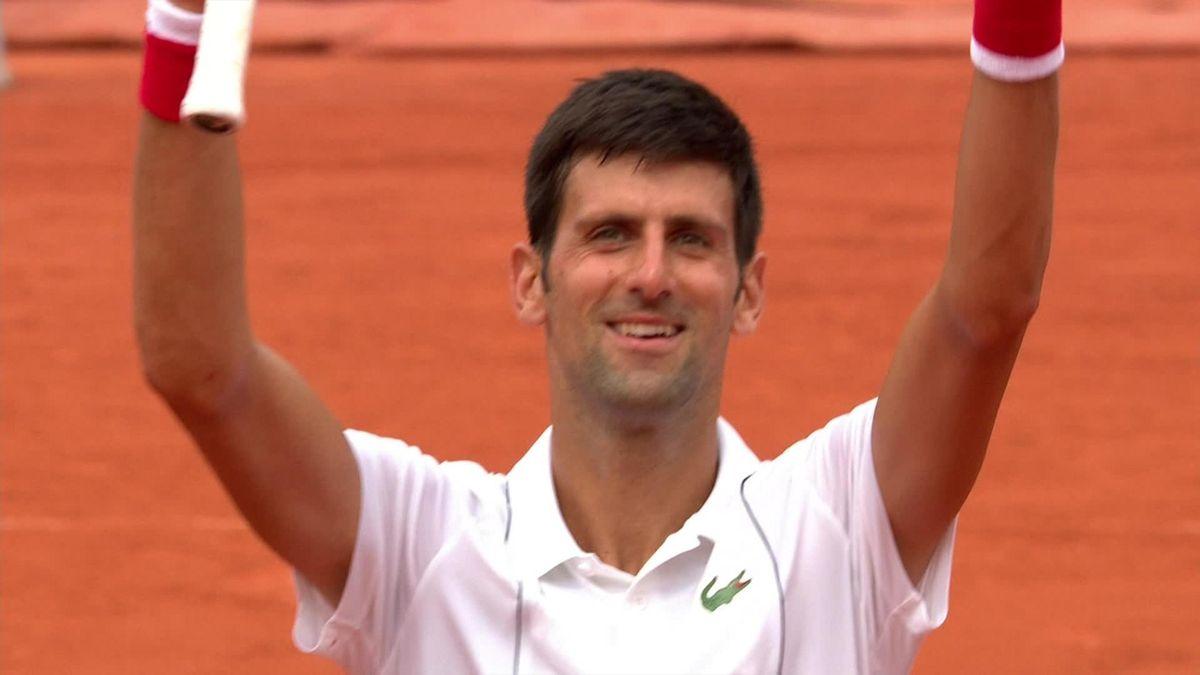 French Open - match point - Dutra Silva vs Djokovic