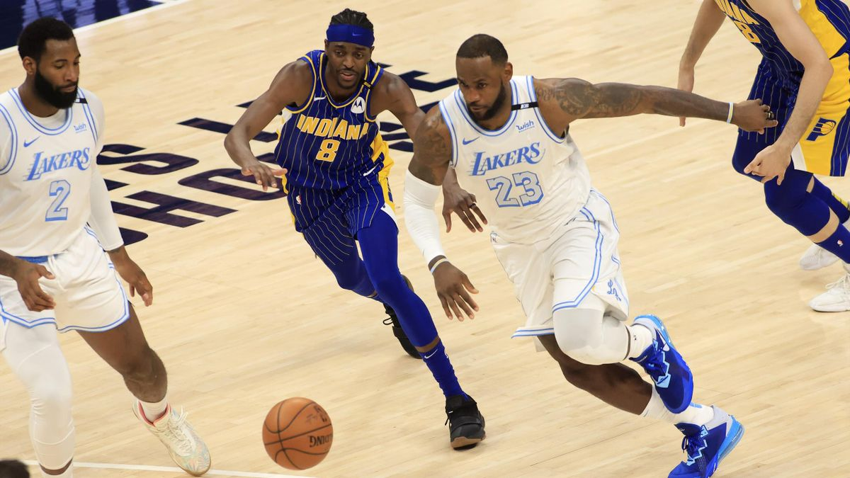 Lebron James, Indiana Pacers-Los Angeles Lakers