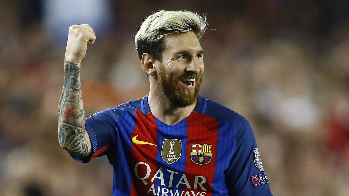 Lionel Messi, auteur d'un triplé en 2016 face à Manchester City