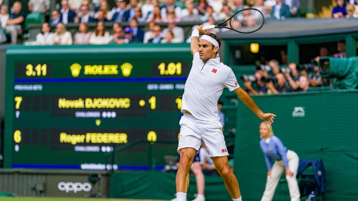 Roger Federer im Wimbledon-Finale 2019