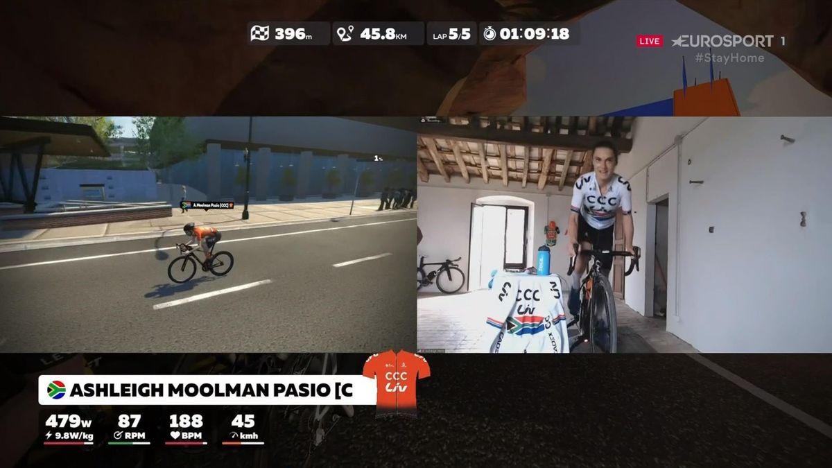 Moolman Pasio wins Zwift race